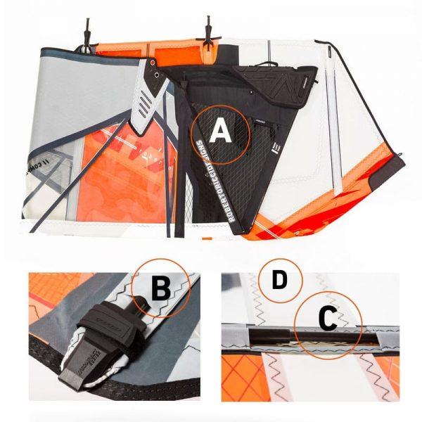 Vela de windsurf compact foil rrd 3