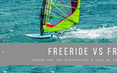 WINDSURF FREERIDE VS FREERACE. CUAL ME CONVIENE Y PORQUE.