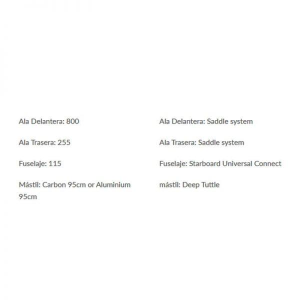 Foil para windsurf de starboard race carbon 2020 specs