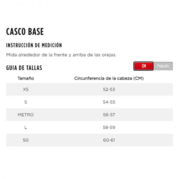 Casco jobe negro sizes